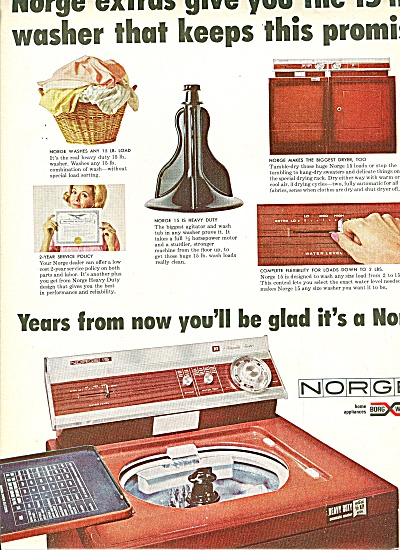 Norge heavy duty wash machine ad 1965 (Image1)