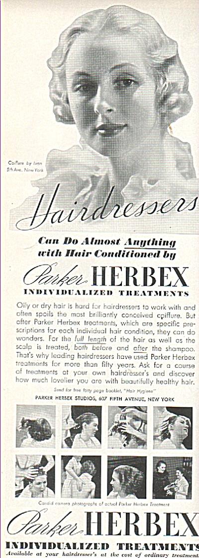 Parker Herbex treatments ad 1936 (Image1)