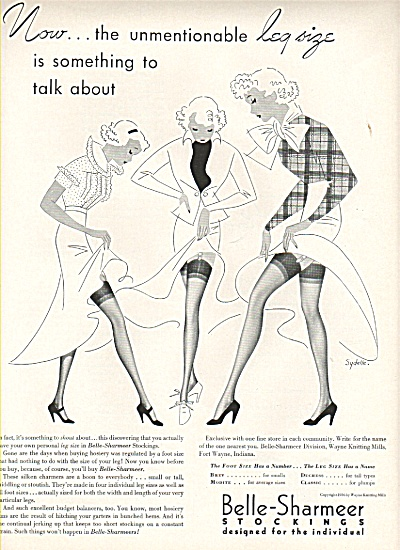 Belle-Sharmeer stockings ad 1936 (Image1)