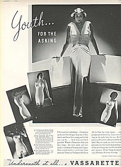 Vassarette girdle ad  1936 (Image1)