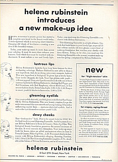 Helena Rubinstein ad 1936 NEW MAKE UP IDEA (Image1)
