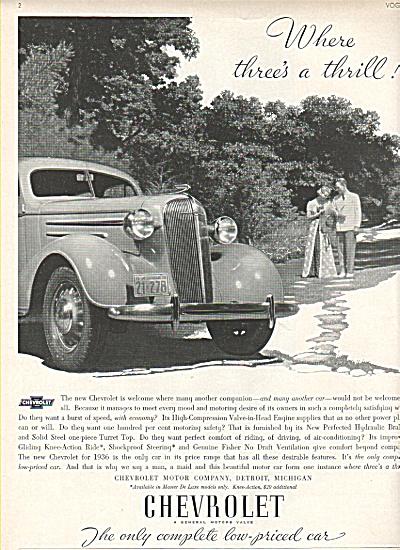 Chevrolet auto ad 1936 (Image1)