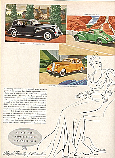 LaSalle - Cadillac auto ads 1936 (Image1)