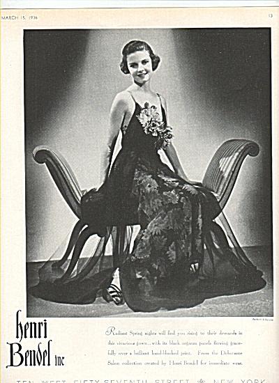 Henri Bendel Inc.,  1936  ad (Image1)