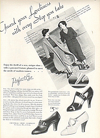 Perfect Eze shoes ad 1936 (Image1)