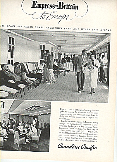 Canadian Pacific - Empress of Britain ad 1936 (Image1)
