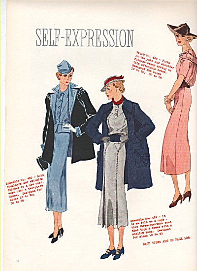 designs for dressmaking - Sketches - 1936 (Image1)