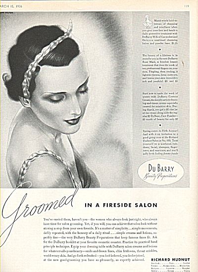 1936 Richard Hudnut -  DuBarry beauty preparations (Image1)