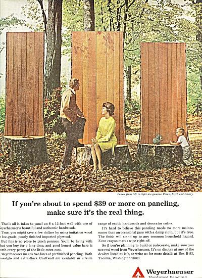 Weyerhaeuser hardwood paneling ad 1965 (Image1)
