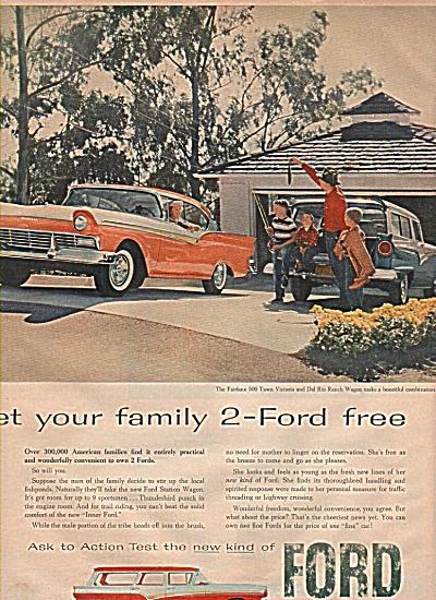 Ford Motor Fairlane 500 ad 1957 (Image1)