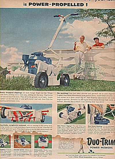 Duo-Trim p ower mowers ad 1957 (Image1)