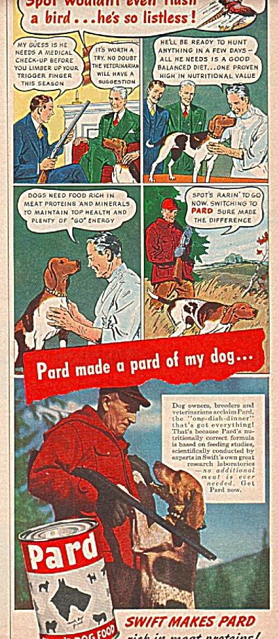 Pard Dog food  - ad 1947 (Image1)