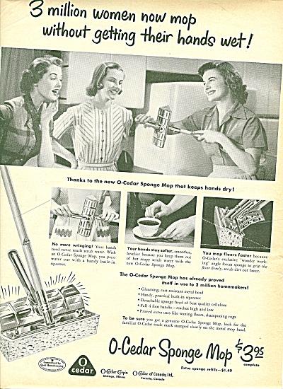 O-Cedar sponge mop ad 1951 (Image1)