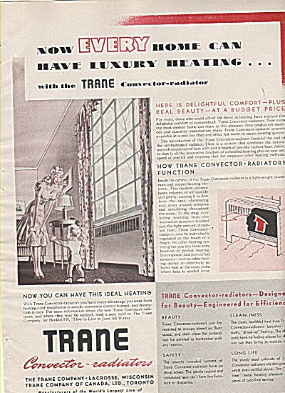 Trane convector radiated heating ad 1948 (Image1)