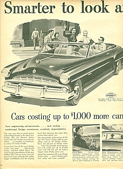 Dodge automobile ad 1951 (Image1)