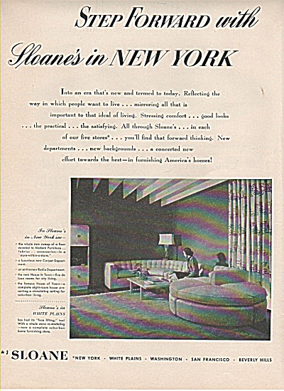 W & J. Sloane of New York ad 1948 (Image1)