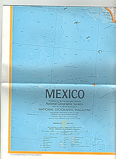 Mexico and Central America  Map 1973 (Image1)