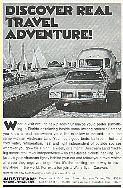 Airstream travel trailers ad (Image1)