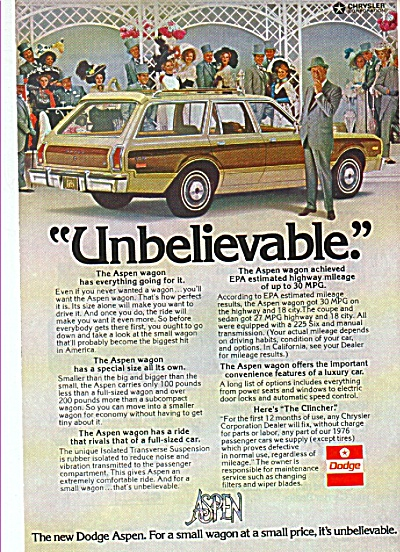 Dodge Aspen station wagon ad 1976 (Image1)