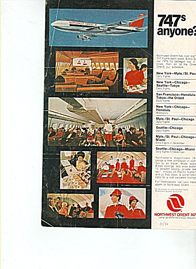 Northwest Orient  airlines 747 ad (Image1)