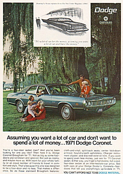 Dodge Coronet 1971 ad (Image1)