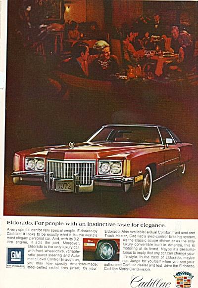 Cadillac Eldorado ad 1972 (Image1)