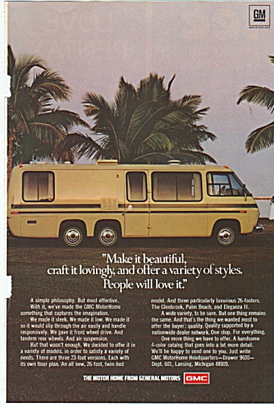 Gmc Motor Home Ad 1978