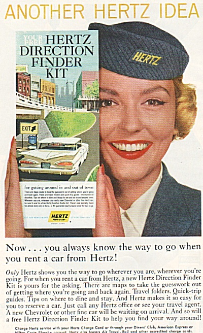 Hertz Rent a car ad 1959 (Image1)