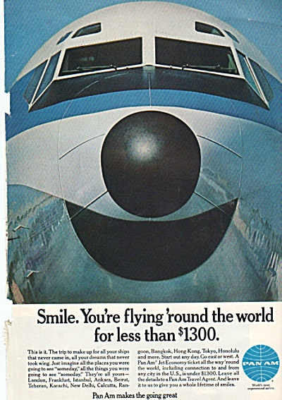Pan Am  airlines ad 1969 (Image1)
