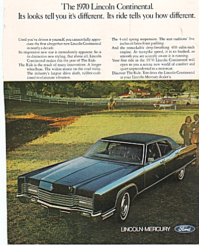 Lincoln continental 1970 ad. (Image1)