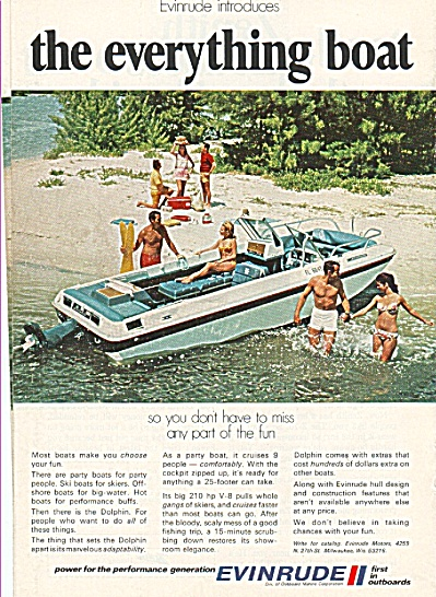 Evinrude Outboards Ad 1970