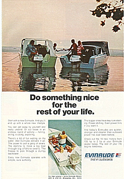 Evinrude Outboards Ad 1973
