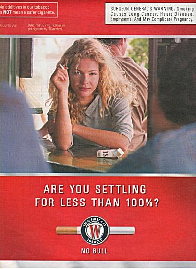 Winston light box tobacco ads 2000 (Image1)