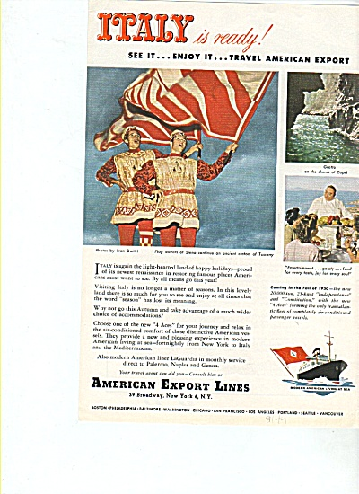 American Export Lines Ad 1949