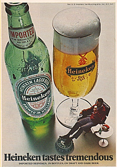 Heineken beer ad 1972 (Image1)