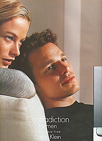Calvin Kllein's Contradiction for men ad (Image1)