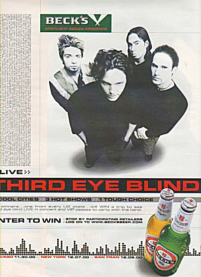 Beck's  presents Third Eye blind ad 2000 (Image1)