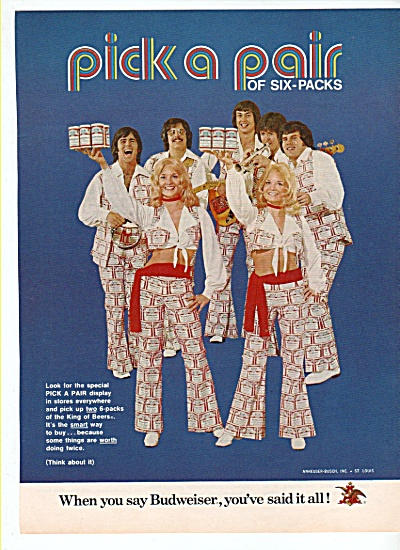 Budweiser beer ad 1972 (Image1)