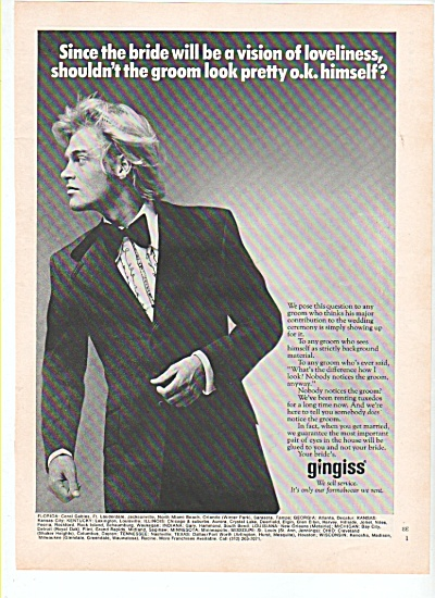 Gingiss - we sell service ad 1972 (Image1)