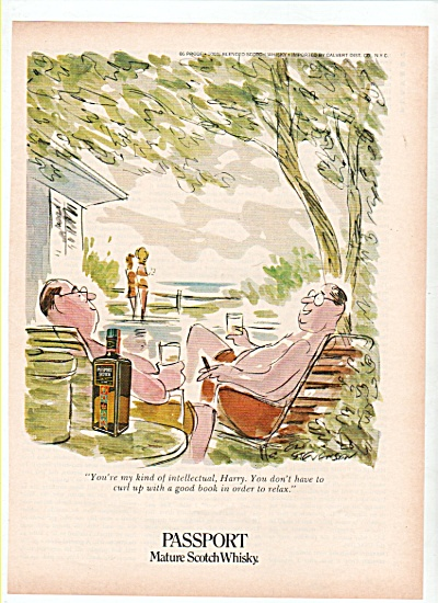 Passport mature Scotch whiskey  ad 1972 (Image1)