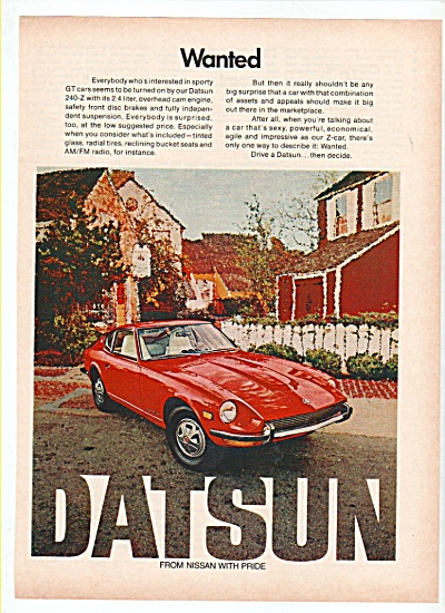 Datsun auto from Nissan ad 1972 (Image1)
