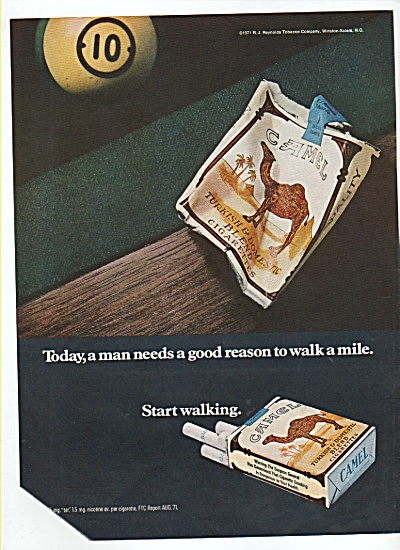 Camel cigarettes ad 1972 (Image1)