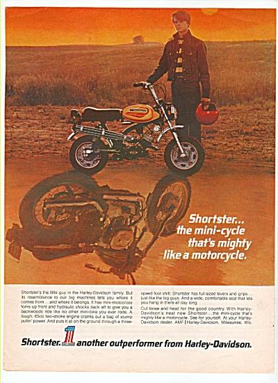 Harley-Davidson motorcycle ad 1972 (Image1)