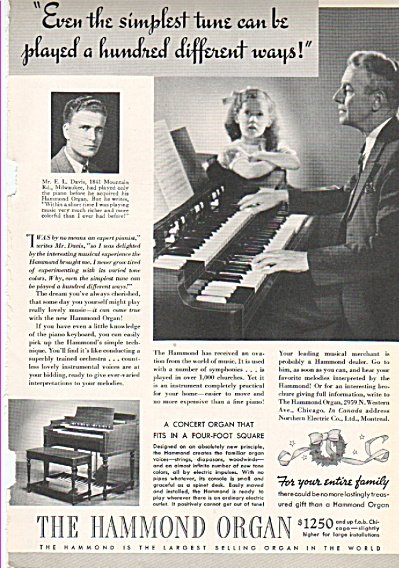 The Hammond Organ ad 1937 (Image1)