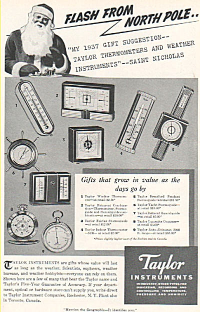Taylor Instruments ad 1937 (Image1)