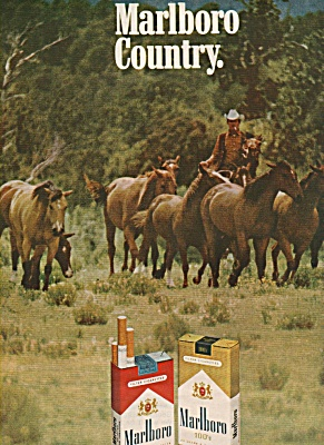 Marlboro MAN AND HORSES cigarettes ad 1969 (Image1)