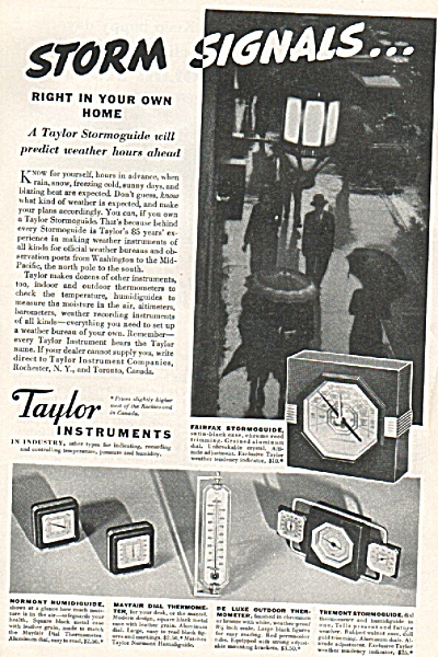 Taylor Instruments ad 1936 (Image1)