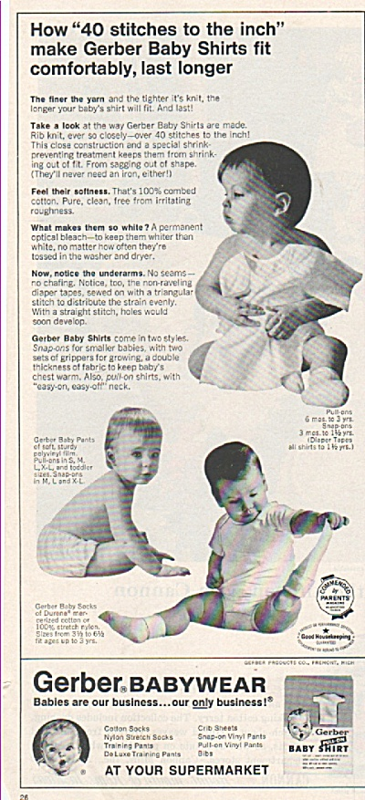 Gerber babywear ads 1965 (Image1)