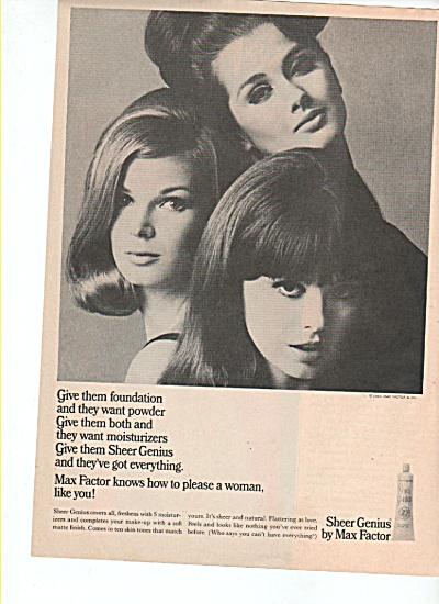Sheer Genius by Max Factor ad 1965 (Image1)