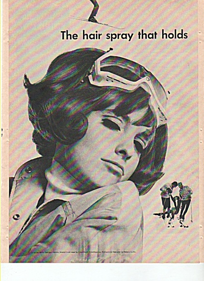 Helene Curtis hair spray ad 1965 (Image1)